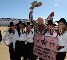 Virgin America begins Dallas-Fort Worth from Los Angeles, San Francisco